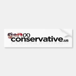GenX Conservative Logo Bumper Sticker Car Bumper Sticker