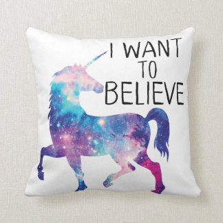 GENYOLO UNICORN GALAXY I WANT TO BELIEVE PILLOW