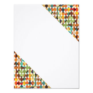 [GEO-ABS-1] Abstract oval pattern 11 Cm X 14 Cm Invitation Card