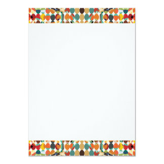 [GEO-ABS-1] Abstract oval pattern 11 Cm X 16 Cm Invitation Card