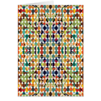 [GEO-ABS-1] Abstract oval pattern Greeting Card