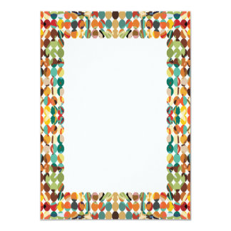 [GEO-ABS-1] Abstract oval pattern Invitation
