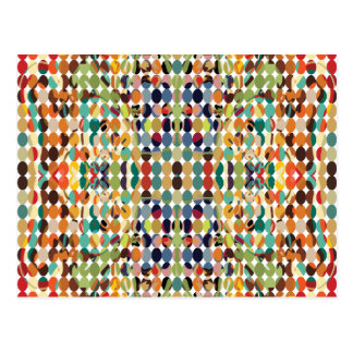 [GEO-ABS-1] Abstract oval pattern Postcard