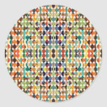 [GEO-ABS-1] Abstract oval pattern Round Sticker