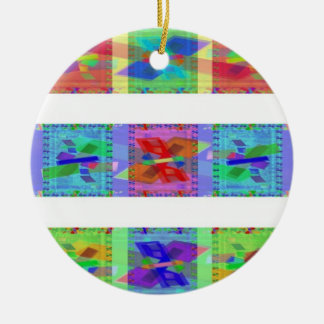 Geo Abstract Christmas Tree Ornaments
