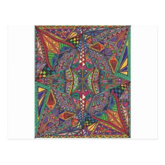 Geo Aztec Design Postcard
