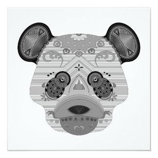 geo bear 13 cm x 13 cm square invitation card