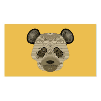 geo bear pack of standard business cards