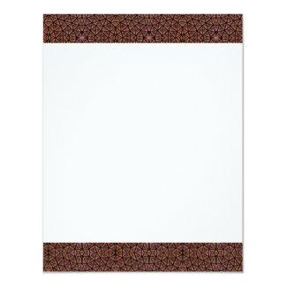 [GEO-BRO-1] Brown cobble pattern 11 Cm X 14 Cm Invitation Card
