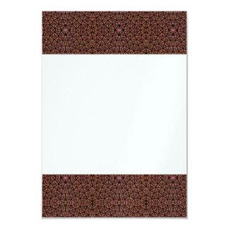 [GEO-BRO-1] Brown cobble pattern 9 Cm X 13 Cm Invitation Card