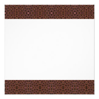 GEO-BRO-1 Brown cobble pattern Personalized Announcements