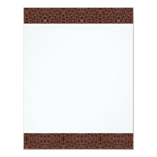 "[GEO-BRO-1] Brown cobble pattern 4.25"" X 5.5"" Invitation Card"
