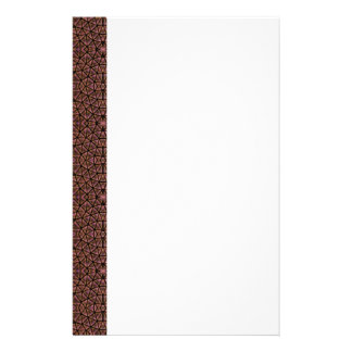 GEO-BRO-1 Brown cobble pattern Stationery Design