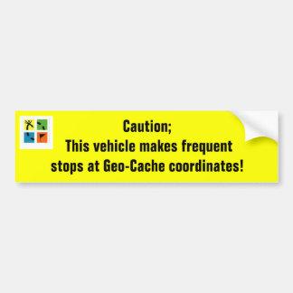 Geo-Cache coordinates Bumper Stickers
