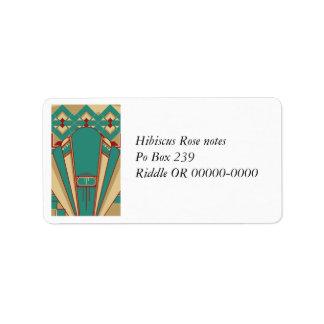 Geo Deco Design Address Label