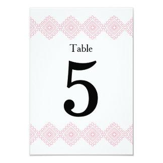 Geo Diamond table number card 9 Cm X 13 Cm Invitation Card