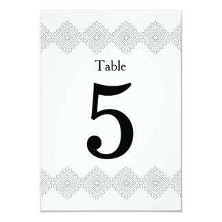 Geo Diamond table number card 9 Cm X 13 Cm Invitation Card
