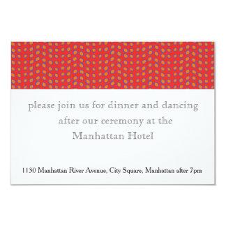 Geo Dots Wedding 9 Cm X 13 Cm Invitation Card