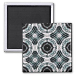 geo eye plaid square magnet