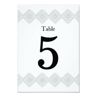 Geo foulards table # card- gray 9 cm x 13 cm invitation card