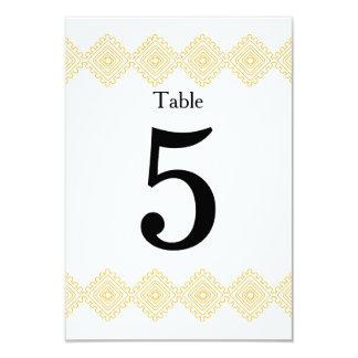 Geo foulards table # card- orange 9 cm x 13 cm invitation card
