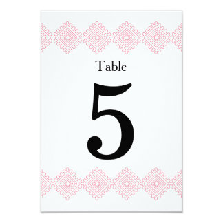 Geo foulards table # card- pink 9 cm x 13 cm invitation card