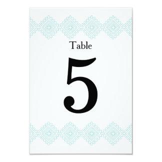 Geo foulards table # card- teal 9 cm x 13 cm invitation card