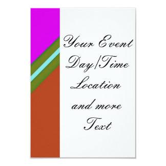 Geo Fun 13 (I) 9 Cm X 13 Cm Invitation Card