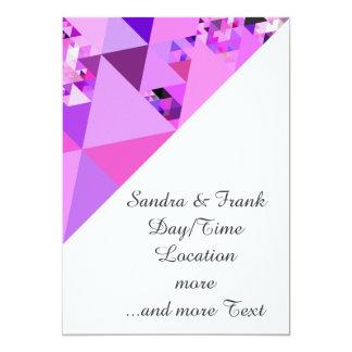 Geo Fun 19 pink (I) 13 Cm X 18 Cm Invitation Card