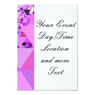 Geo Fun 19 pink (I) 9 Cm X 13 Cm Invitation Card