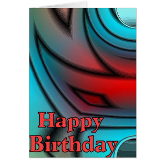 Geo Happy Birthday Greeting Card