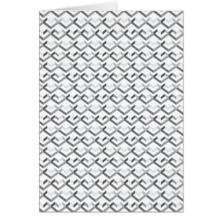 Geo Heart Pattern Greeting Cards