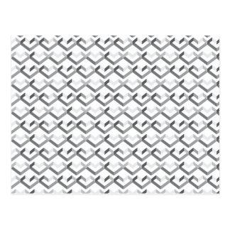 Geo Heart Pattern Post Cards