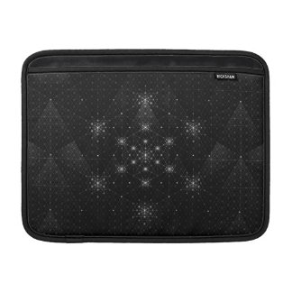 Geo Hex Grid Pattern MacBook Sleeve