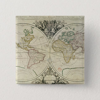 Geo-Hydrographic Mappamonde 15 Cm Square Badge