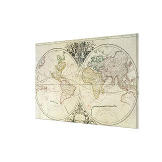 Geo-Hydrographic Mappamonde Canvas Print