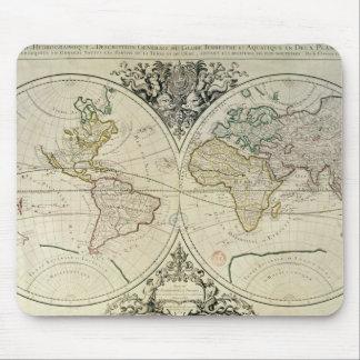 Geo-Hydrographic Mappamonde Mouse Mat