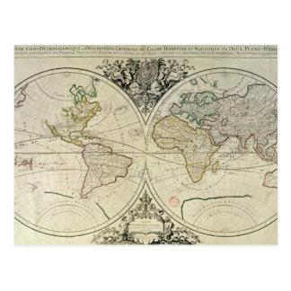 Geo-Hydrographic Mappamonde Postcard