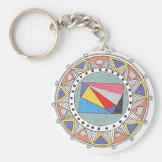 geo mandala key chains