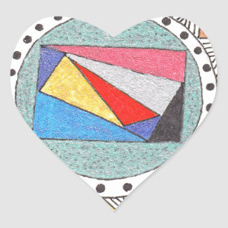 geo mandala heart stickers