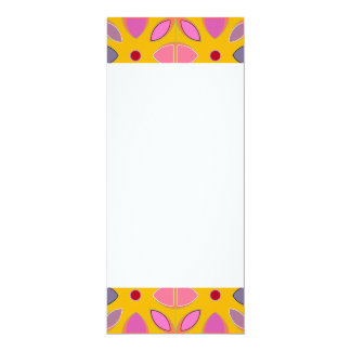 [GEO-OR-1] Cute geometric patterns on orange 10 Cm X 24 Cm Invitation Card