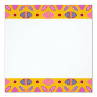 [GEO-OR-1] Cute geometric patterns on orange Personalized Invite