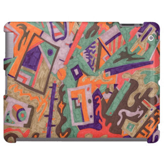 Geo-Organic Pool, Abstract Art iPad Case