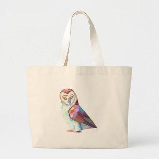 Geo Owl Large Tote Bag