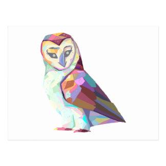 Geo Owl Postcard