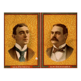 Geo. Primrose and Lew Dockstader Vintage Theater Post Card