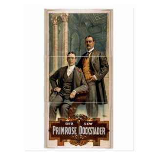 Geo Primrose Lew Dockstader Retro Theater Postcard