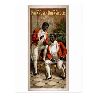 Geo Primrose Lew Dockstader Vintage Theater Post Card