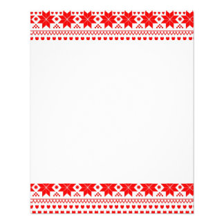 [GEO-RD-1] Red and white Christmas stars Flyers