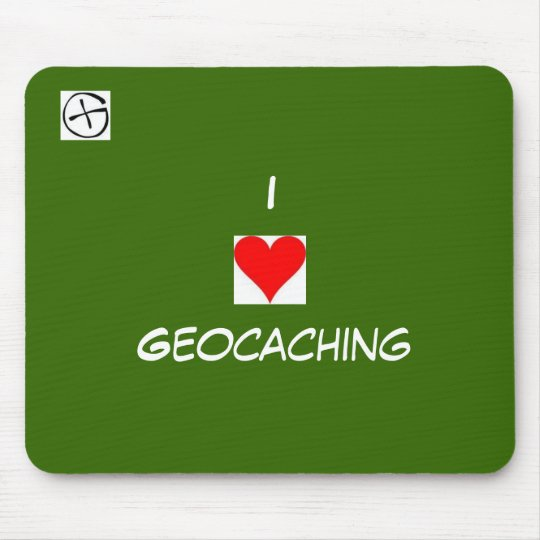 geo symbol, heart, I, Geocaching Mouse Mat